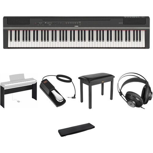 Yamaha P-125 88-Note Digital Piano with Home/Studio Kit (Black)