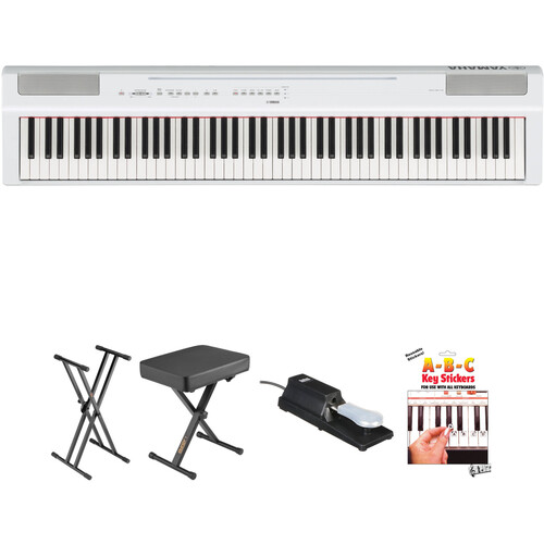 Yamaha P-125 88-Note Digital Piano and Essentials Kit (White)