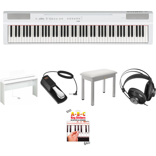 Yamaha P-125 88-Note Digital Piano with Home/Studio Kit (White)