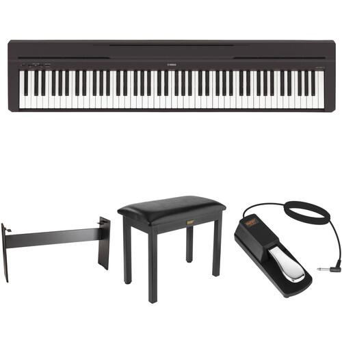Yamaha P-45 Compact Portable Digital Piano Home Studio Bundle