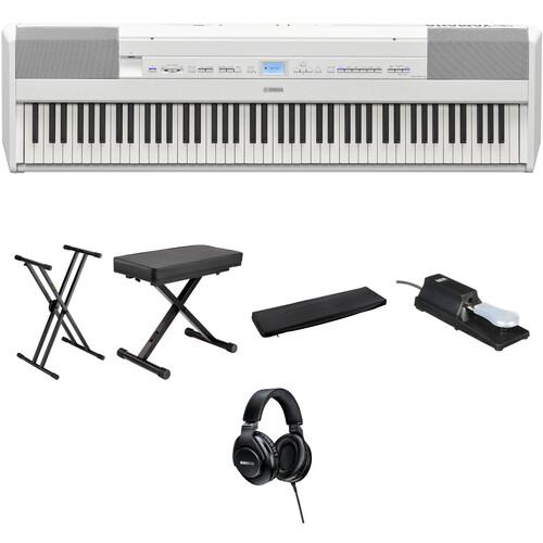 Yamaha P-515 88-Key Portable Digital Piano Value Kit (White)