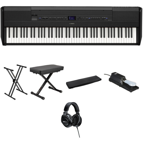 Yamaha P-515 88-Key Portable Digital Piano Value Kit (Black)