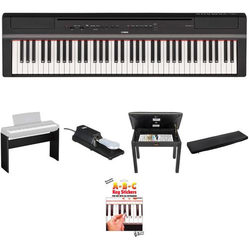 Yamaha P-121 73-Key Digital Piano Home/Studio Kit (Black)