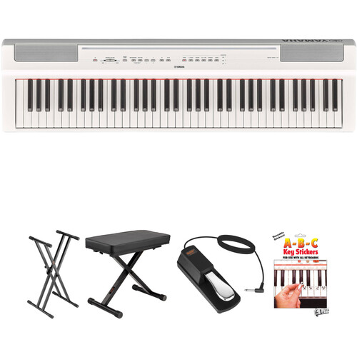 Yamaha P-121 73-Key Digital Piano and Essentials Kit (White)