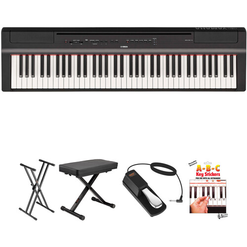Yamaha P-121 73-Key Digital Piano and Essentials Kit (Black)