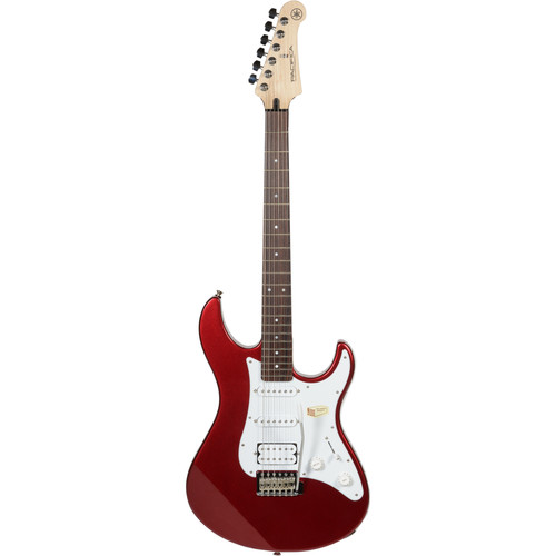 Yamaha PAC112J Pacifica Double Cutaway Electric Guitar (Metallic Red)
