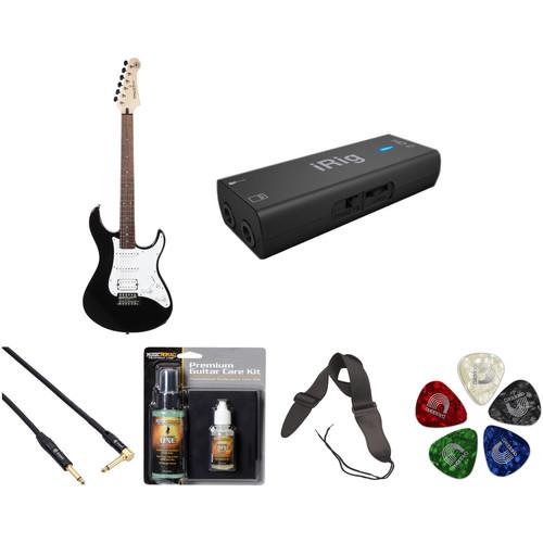 Yamaha Pacifica PAC012 Electric Guitar Home Recording Starter Kit (Black)