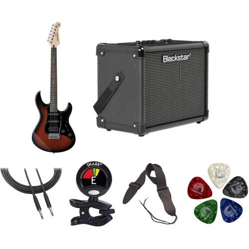 Yamaha Pacifica PAC012DLX Electric Guitar Starter Kit (Old Violin Sunburst)
