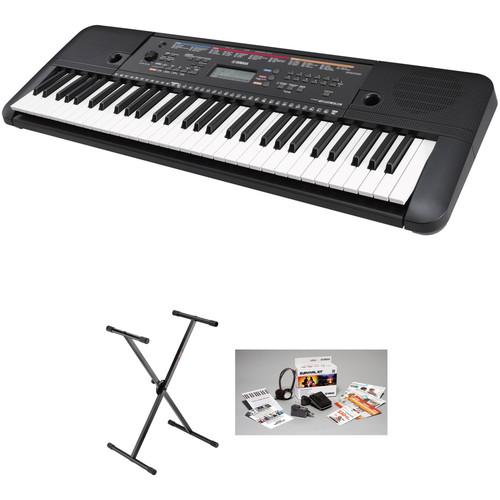 Yamaha psr e263 61 key portable keyboard kit with stand for Cheap yamaha keyboards