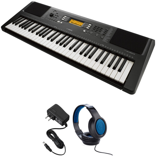 Yamaha PSR-E363 61-Key Portable Keyboard Kit with Stand and Headphones