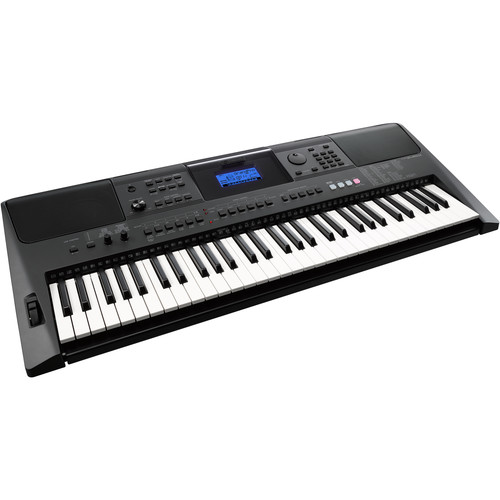 Yamaha PSR-E453 Portable Keyboard Kit with Power Supply, Pedal, Headphones, Stand, and Bench