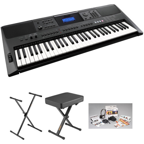 yamaha psr e453 portable keyboard kit with power supply