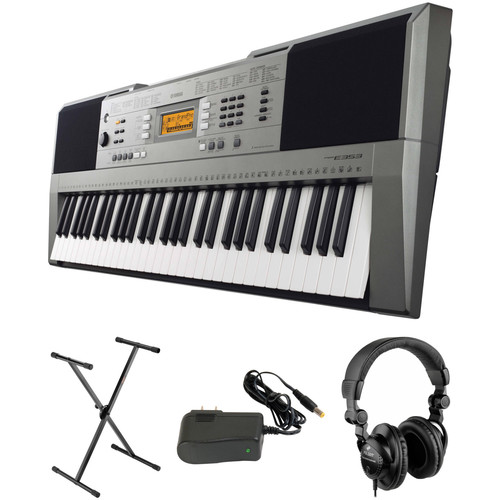 Yamaha PSR E-353 Portable Keyboard Kit with Stand, Power Adapter and Headphones