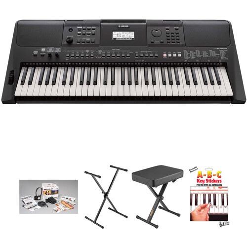 Yamaha PSR E-463 Value Kit with Stand, Bench, and Survival Kit