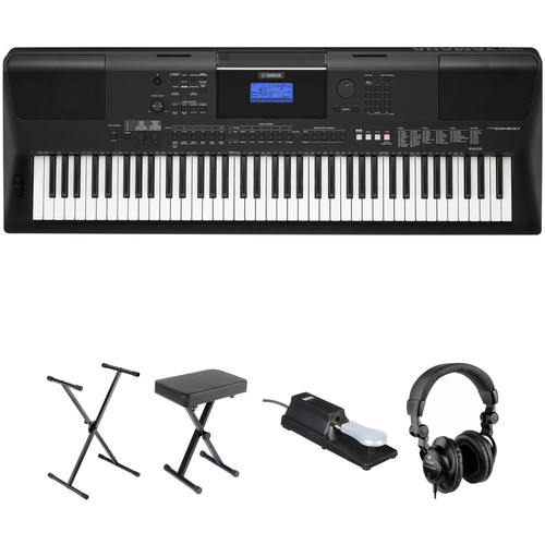 Yamaha psr ew400 76 key portable keyboard essential bundle b h for Yamaha credit application