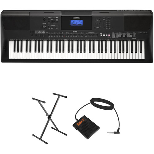 Yamaha PSR-EW400 76-Key Portable Keyboard Kit with Stand and Sustain Pedal