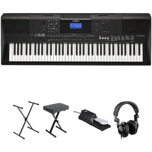 Yamaha PSR-EW400 76-Key Portable Keyboard Essential Bundle