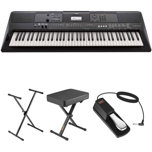 Yamaha PSR-EW410 Portable Keyboard Value Kit with Stand, Bench, and Pedal