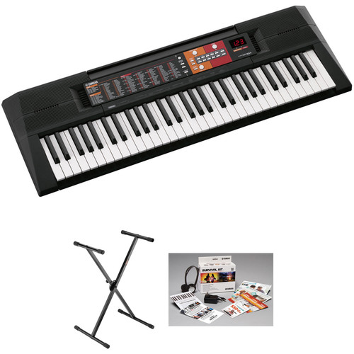Yamaha PSR-F51 61-Key, Entry-Level Keyboard Kit with Stand, Power Adapter, and Headphones