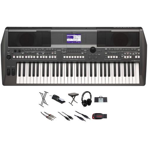 Yamaha PSR-S670 61-Key Arranger Workstation and Value Bundle Kit