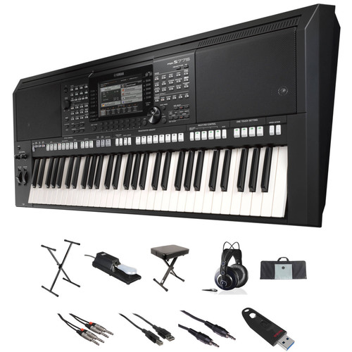 Yamaha PSR-S775 Value Kit with Stand, Bench, Cables, Case, Pedal, and Flash Drive