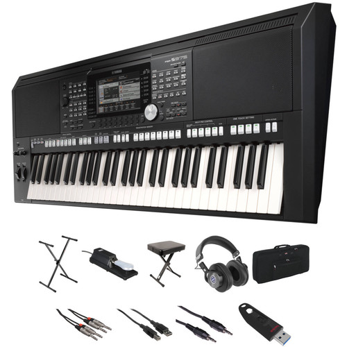 Yamaha PSR-S975 Value Kit with Stand, Bench, Cables, Case, Pedal, and Flash Drive