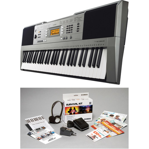 Yamaha PSR-E353 Portable Keyboard with Survival Kit Bundle