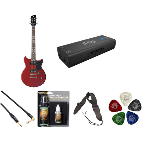 Yamaha Revstar RS320 Electric Guitar Home Recording Starter Kit (Red Copper)