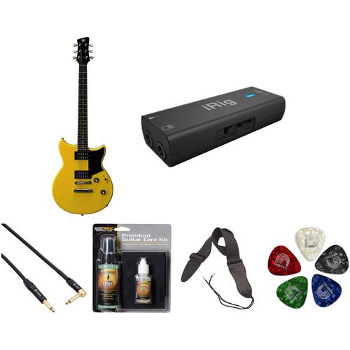Yamaha Revstar RS320 Electric Guitar Home Recording Starter Kit (Stock Yellow)