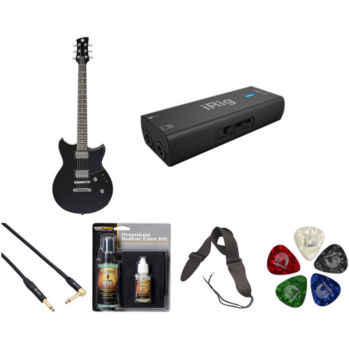Yamaha Revstar RS420 Electric Guitar Home Recording Starter Kit (Black Steel)