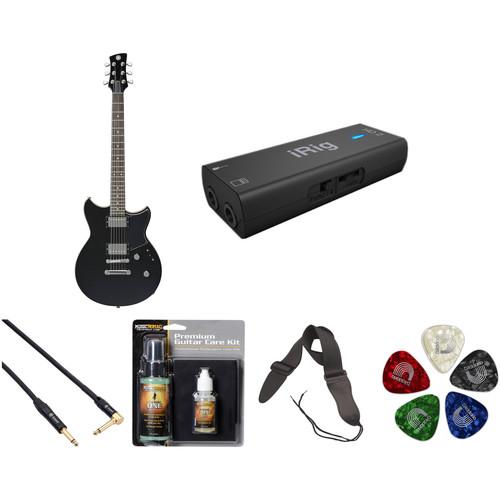 Yamaha Revstar RS420 Electric Guitar Home Recording Starter Kit (Black Steel)