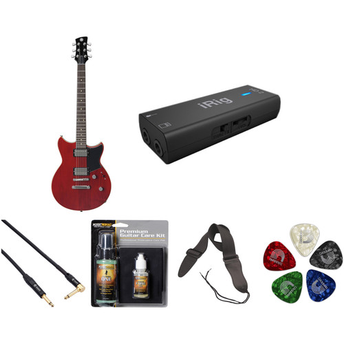 Yamaha Revstar RS420 Electric Guitar Home Recording Starter Kit (Fired Red)
