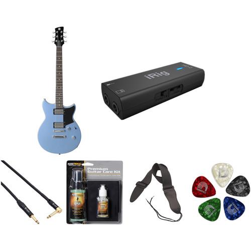Yamaha Revstar RS420 Electric Guitar Home Recording Starter Kit (Factory Blue)