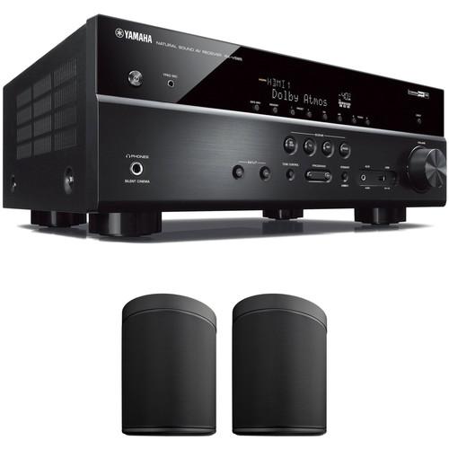 Yamaha RX-V585 7.2-Channel MusicCast A/V Receiver and MusicCast 20 Speaker Pair Kit (Black)