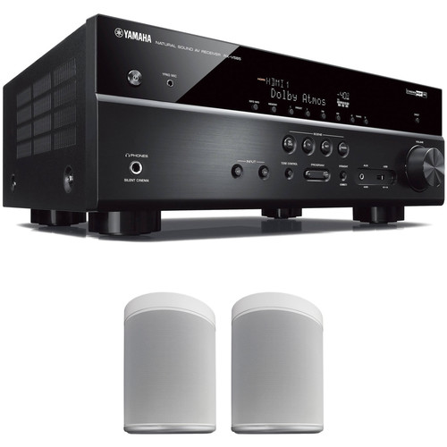 Yamaha RX-V585 7.2-Channel MusicCast A/V Receiver and MusicCast 20 Speaker Pair Kit (White)
