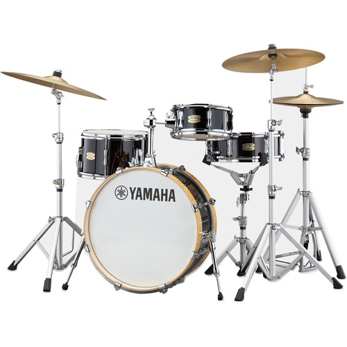 Yamaha Stage Custom Hip 4-Piece Shell Pack (Raven Black)