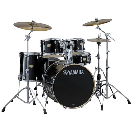 Yamaha SBP0F57 Stage Custom Birch 5-Piece Complete Configuration with Hardware (Raven Black)