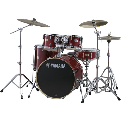 Yamaha SBP0F57CR Stage Custom Birch Shell Package (Cranberry Red)