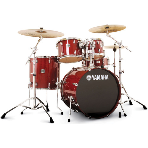Yamaha Stage Custom Birch Acoustic 5-Piece Drum Set (Cranberry Red)