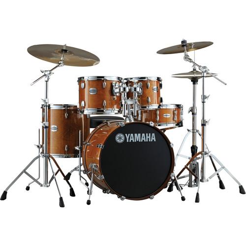 Yamaha Stage Custom Birch Acoustic 5-Piece Drum Set (Honey Amber)