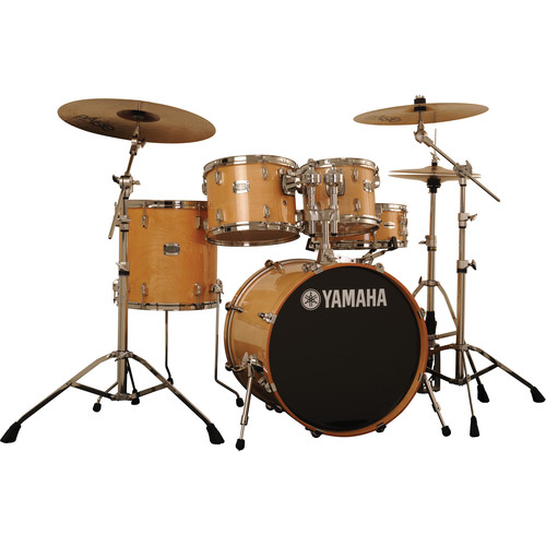 Yamaha Stage Custom Birch Acoustic 5-Piece Drum Set (Natural Wood)