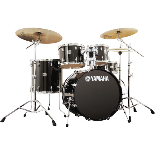 Yamaha Stage Custom Birch Acoustic 5-Piece Drum Set (Raven Black)