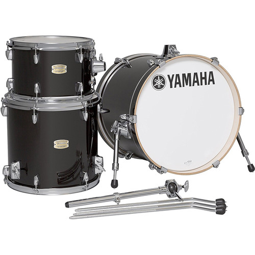 Yamaha Stage Custom Birch 3-Piece BeBop Shell Pack with Tom Holder (Raven Black)