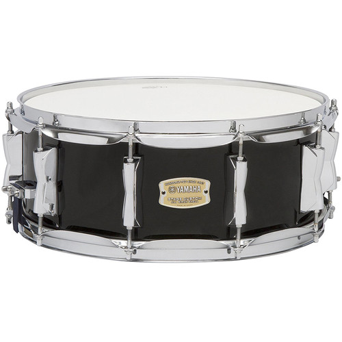 "Yamaha Stage Custom Birch Snare Drum (Raven Black, 14 x 5.5"")"