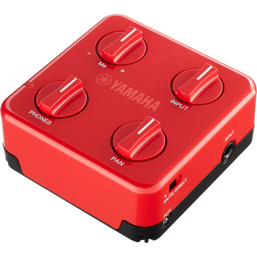 Yamaha SC-01 SessionCake Portable Battery-Powered Audio Mixer for Guitar or Bass (Red)