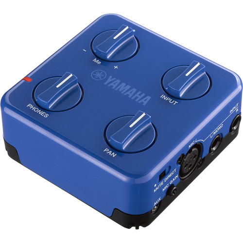 Yamaha SC-02 SessionCake Portable Battery-Powered Audio Mixer for Vocal and Instrument Inputs (Blue)