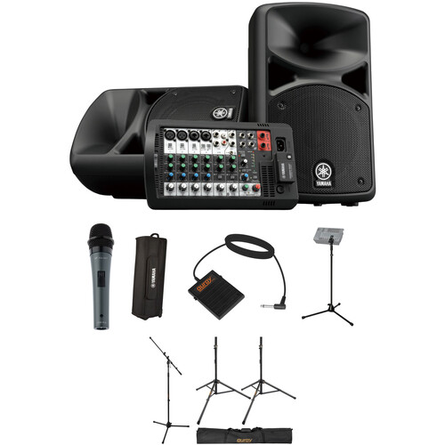 yamaha stagepas 400bt complete pa system with touring package. Black Bedroom Furniture Sets. Home Design Ideas