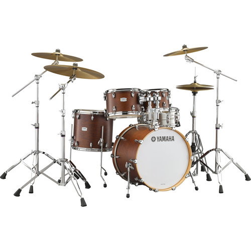 "Yamaha TMP2F4 Tour Maple Custom 4-Piece Shell Package (22"" Bass Drum, Chocolate Satin)"