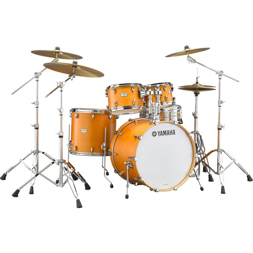 "Yamaha TMP2F4 Tour Maple Custom 4-Piece Shell Package (22"" Bass Drum, Caramel Satin)"