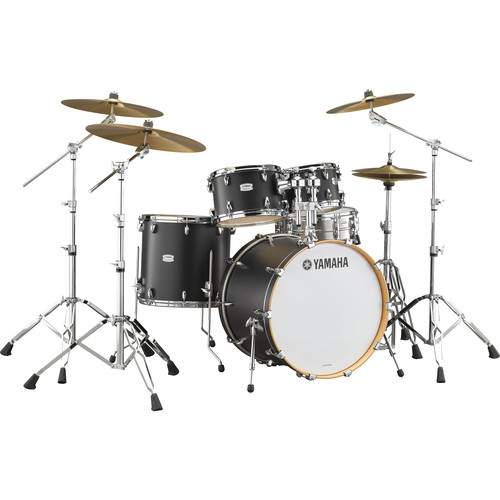 "Yamaha TMP2F4 Tour Maple Custom 4-Piece Shell Package (22"" Bass Drum, Licorice Satin)"